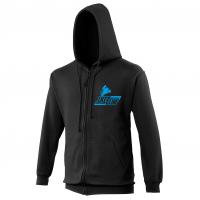 1Kcc Club Embroidered Zip-Up Hoodie / Hooded Sweatshirt