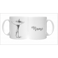 En Pointe Pencil Drawn Ballerina 11oz Personalised Mug