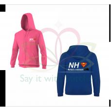 NHS Ride 4 Heroes Royal Blue / Fuschia PInk Zip Up Hoodie 2021