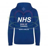 NHS Ride of Thanks UNDATED Royal Blue Hoodie