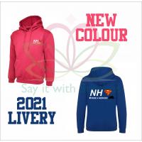 NHS Ride 4 Heroes Royal Blue / Fuschia PInk Hoodie Hooded Sweatshirt 2021