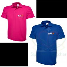 NHS Ride 4 Heroes Royal Blue / Hot PInk Polo Shirt 2021