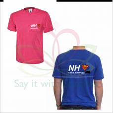 NHS Ride 4 Heroes Royal Blue / Fuschia Pink T-Shirt 2021