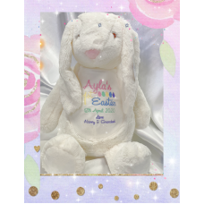 Personalised Embroidered Cream Plush Bunny Rabbit