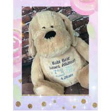 Personalised Embroidered Brown Plush Dog Teddy