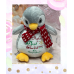 Personalised Embroidered First Christmas Penguin Teddy Bear