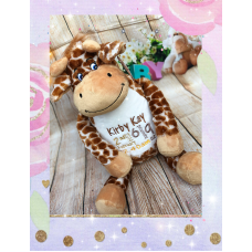 Personalised Embroidered Cute Plush Giraffe Teddy
