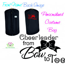 Personalised Quality Cheerleader Slogan Costume Carrier Bag