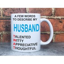 HUSBAND TWAT Adult Rude Offensive Novelty 11oz Ceramic Mug