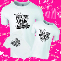 Here Comes Trouble Twinning Family T-Shirt Set