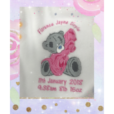 Personalised Embroidered Grey Tatty Teddy Fleece Blanket