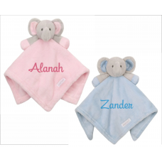 Pink or Blue Baby Elephant Comforter with Personalisation