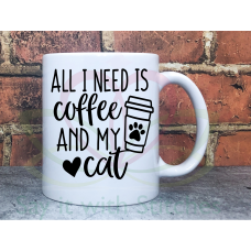 Coffee for Cat Lovers 11oz Personalised Mug Gift