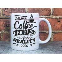 Coffee before Reality 11oz Personalised Mug Gift