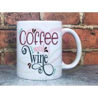 Coffee until Wine 11oz Personalised Mug Gift