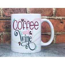Coffee until Wine 11oz Personalised Mug Gift