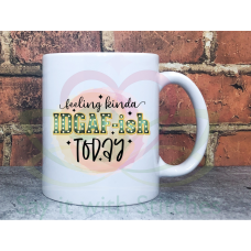 Feeling kinda IDGAFish today Joke Adult 11oz Personalised Sarcastic Mug Gift