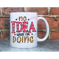 No idea what I'm doing Sarcastic Joke Adult Teacher named 11oz Personalised Mug Gift
