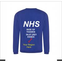 NHS Ride of Thanks *NEW DATE* 04.07.2021 Royal Blue Sweatshirt
