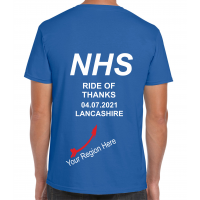 NHS Ride of Thanks  04.07.2021 *NEW DATE* Royal Blue T-Shirt