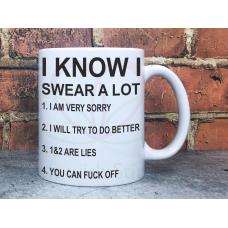 Swear A Lot Adult Novelty 11oz Ceramic Mug